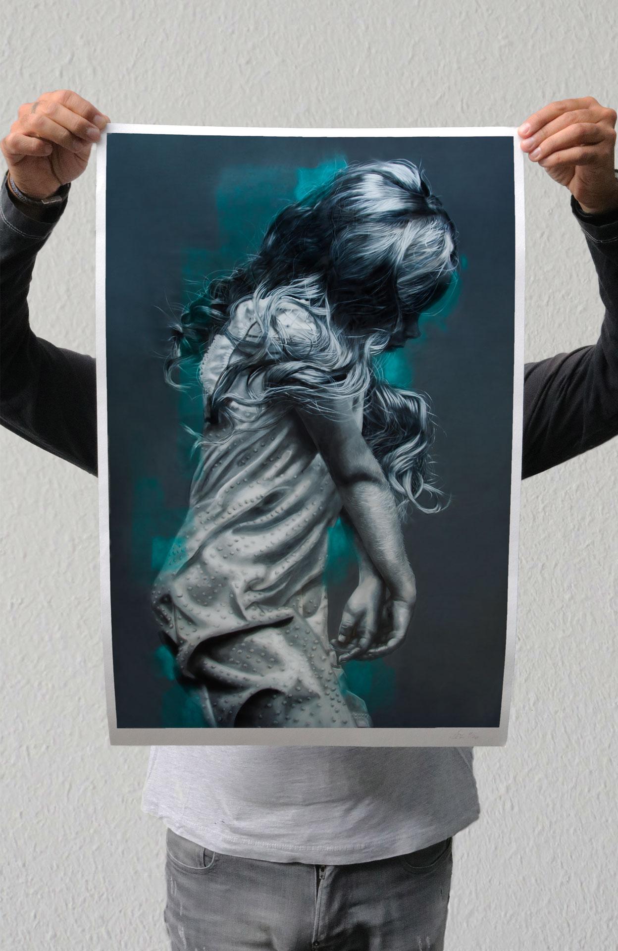 Street art, print, female, artist, Murals, Mural, Graffiti, Art, JDL, Judith de Leeuw
