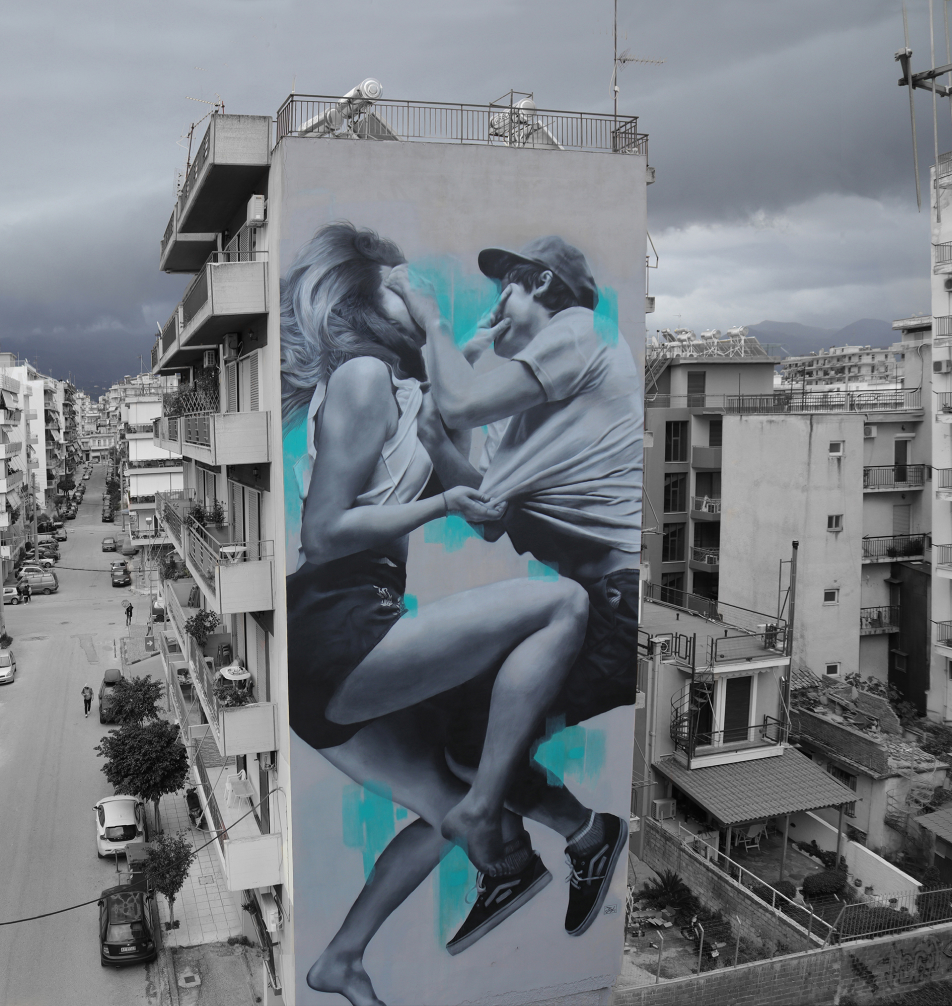 jdl street art, judith de leeuw, greece, patras, mural, alone together, artwalk