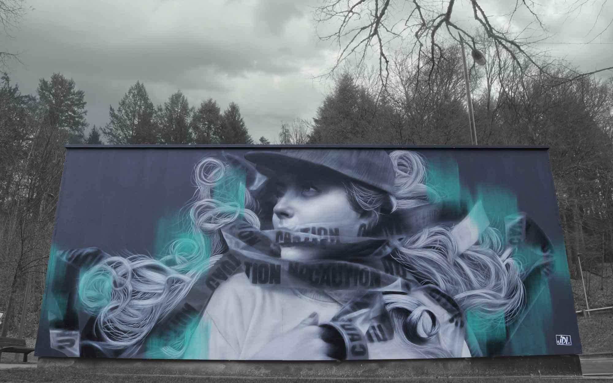 jdl street art, judith de leeuw, epinal, france, mural, construction, le mur