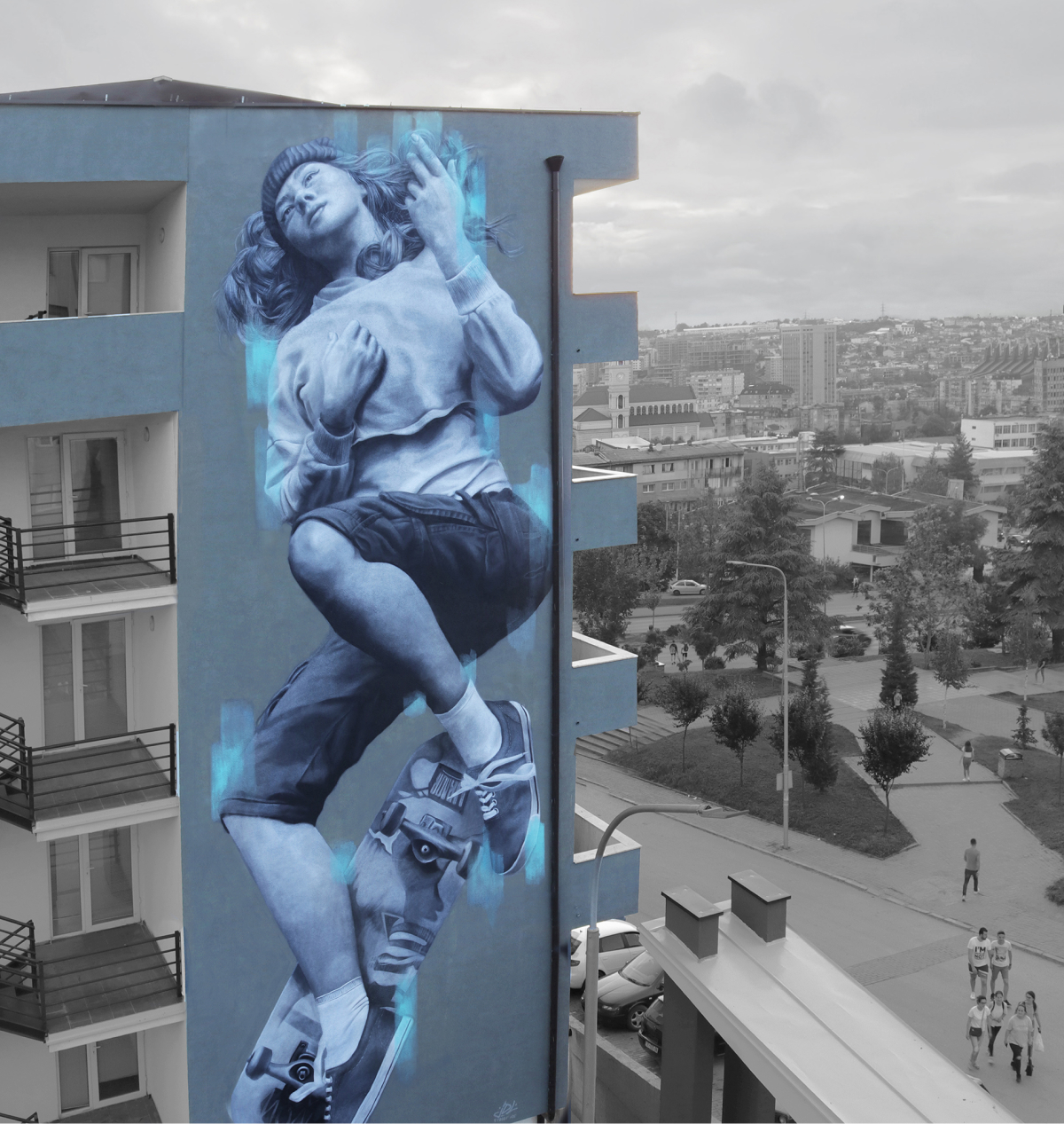 Mural Prihstina Kosovo, feminism, Female, Street art, Artist, Murals, Muralism